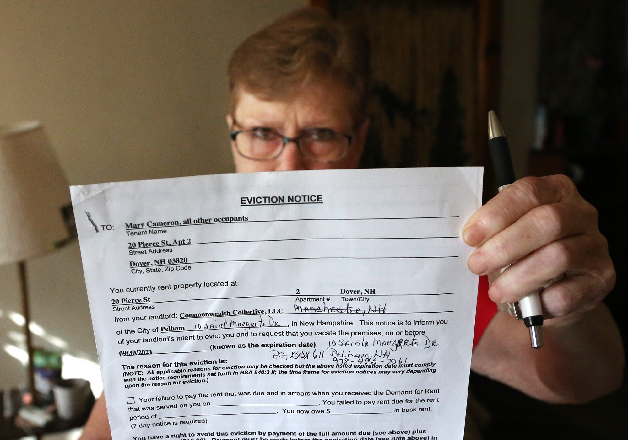 'They came in like we were nothing': New Hampshire woman with housing voucher evicted