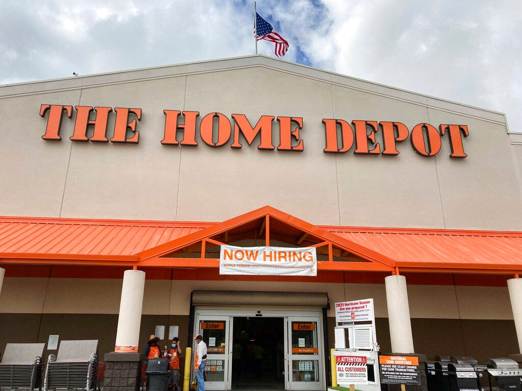 Home Depot online orders will soon be delivered through Walmart's new white-label service