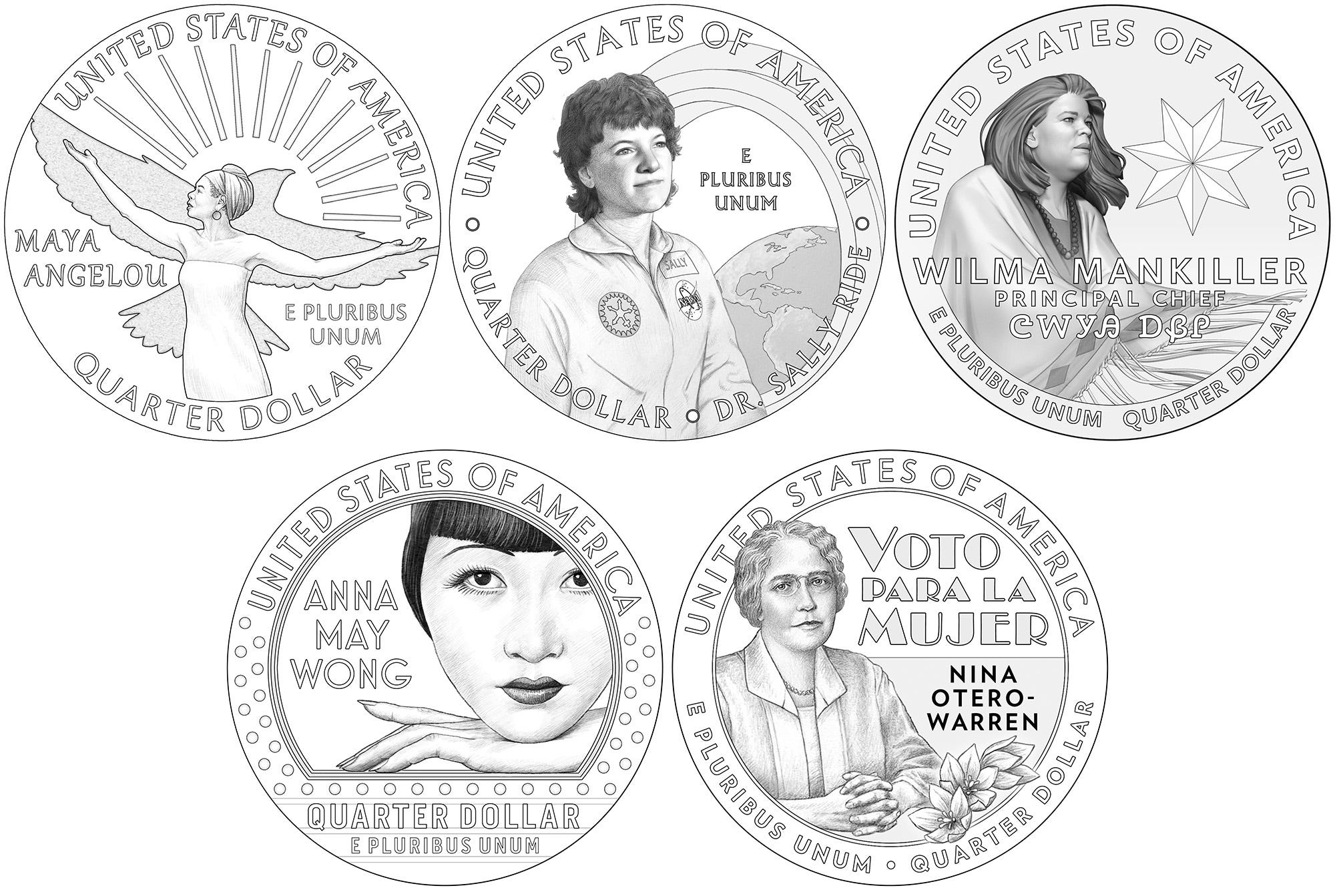 See the 2022 quarters that will feature trailblazing American women